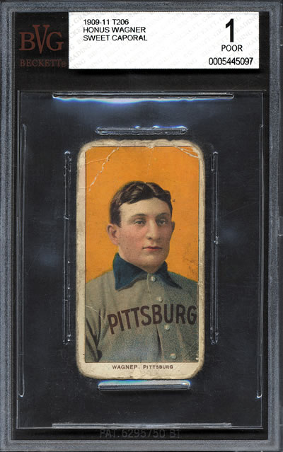 1909-11 T206 Honus Wagner Sweet Caporal Tobacco